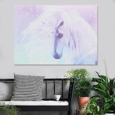 1X Cartoon Unicorn Canvas Print Painting Wall Pictures Home Art Decor 12/16/20''