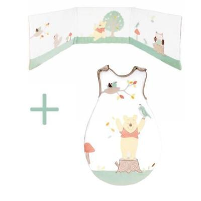 WINNIE WHIMSY Ensemble tour de lit / gigoteuse en velours - Blanc - 0-6 mois