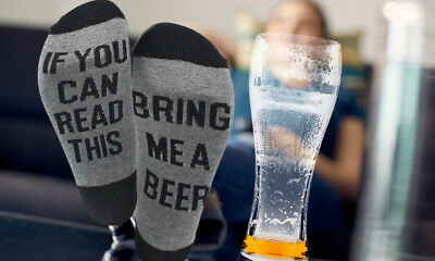 If You Can Read This Bring Me a Beer A Glass Of Wine Women Men Socks Unisex UK