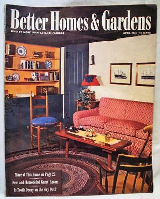 BETTER HOMES & Gardens Magazine April 1945 VINTAGE ADS - $9.07 ...
