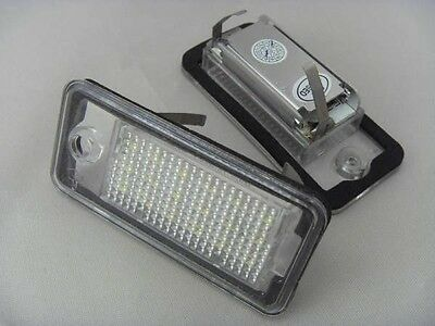 Audi A3 8P Hb A4 B6 B7 A6 C6 A8 Q7 Set 2 X Number Plate Lamp Light Led New