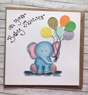 Personalised Baby Shower card boy/girl/unisex *Add Any Message!* Mummy To Be