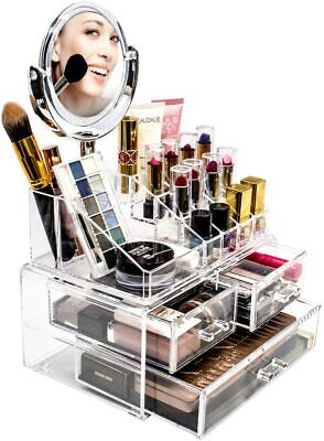Sorbus Acrylic Cosmetic Makeup and Jewelry Storage with Magnifying Mirror