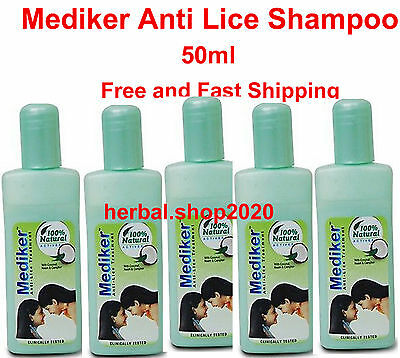Mediker Anti Lice Shampoo with Coconut Oil Neem 50ml. FRee Shipping. RB