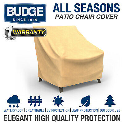 Budge All-Seasons Waterproof Patio Chair Cover | Various Sizes and Colors