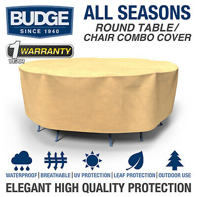 Budge All-Seasons Round Patio Table and Chairs Cover | Various Sizes and Colors