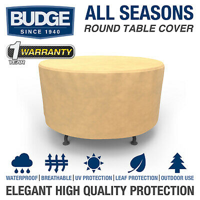 Budge All-Seasons Waterproof Round Patio Table Cover | Various Sizes and Colors