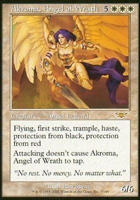 1x AKROMA, ANGEL OF WRATH  - Time Spiral/Scourge - MTG  - Magic the Gathering