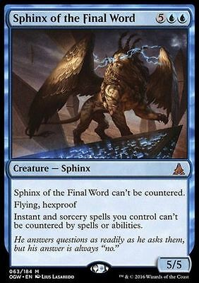1x SPHINX OF THE FINAL WORD - Rare - Oath - MTG - NM - Magic the Gathering