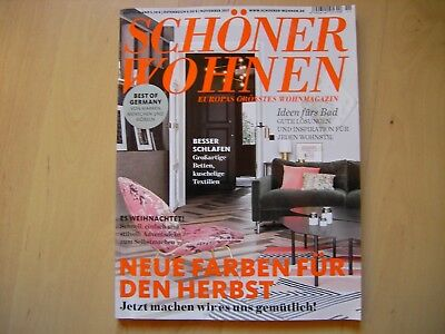 zeitschriften 2017 sch ner wohnen november 2017 eur 1. Black Bedroom Furniture Sets. Home Design Ideas