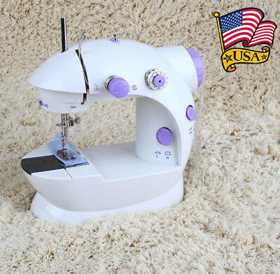LED Mini Electric 2-Speed Portable Desktop Sewing Machine Household Sewing