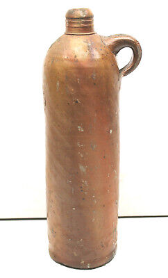 Antique 1800's German Nassau Selters Mineral Water Stoneware Clay Bottle Glazed