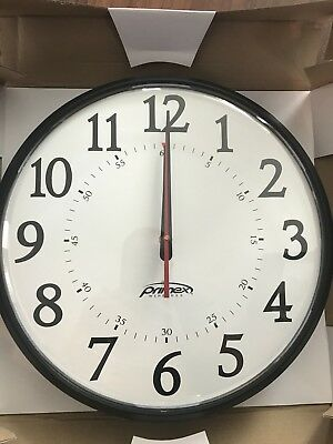 """Primex 12.5"""" Wireless Synchronized Wall Clock-Part #14306 / Assembly #Q12000AE"""