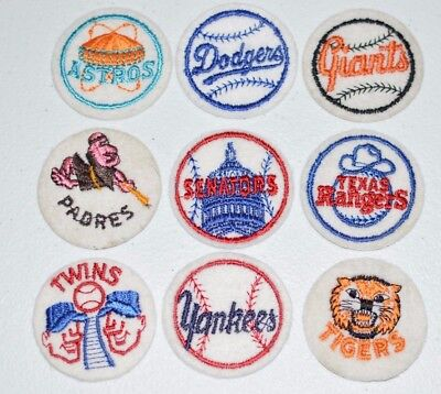 1970s Vintage Baseball MLB Team Sew-on Clothing Patches for Jerseys Hats Jacket