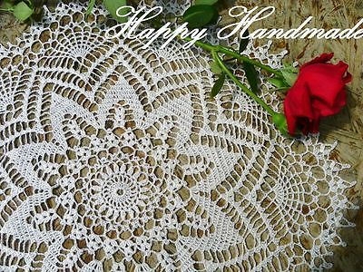 HaHa Large White Linen Crochet 45cm (18 inch) Doily/wedding/made-to-order