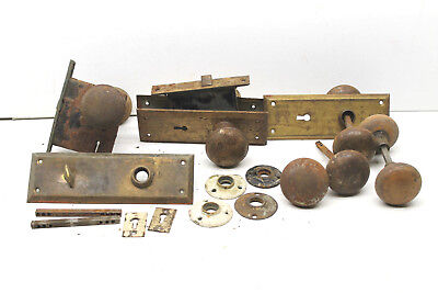 Antique Door Knob Knobs Locks Plates Restoration Hardware Metal+Brass Parts USA