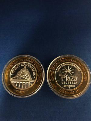 Plaza Las Vegas Limited Edition $10 Gaming Tokens .999 Silver (Lot of 2)