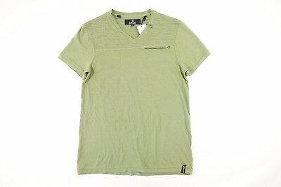 Buffalo David Bitton Kisady Striped Green Xl Vneck Pocket Tshirt Mens Nwt
