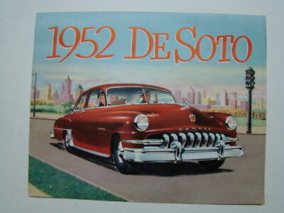 1952 DeSoto Passenger Car Brochure DeSoto Division of the Chrysler Corporation