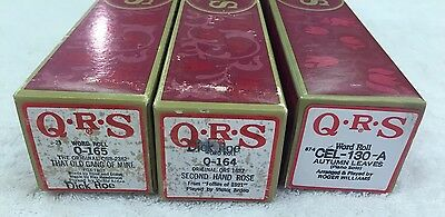 QRS PIANO ROLLS LOT OF (3) Q-165, Q-164, Cel-130-A  Excellent Playable Condition