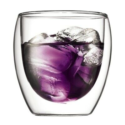 Bodum Pavina 250ml Double Wall Glass Set of 2 Brand New