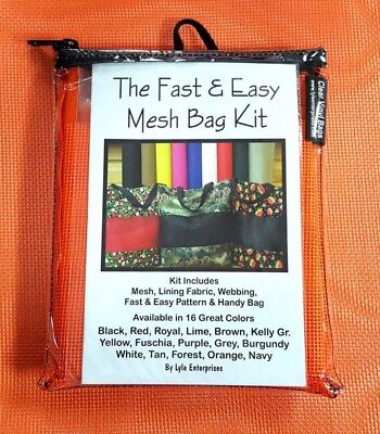 Fast and Easy Orange Mesh Bag Kit