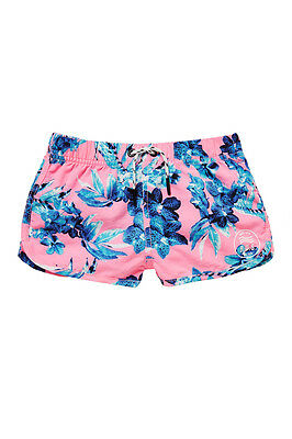 Girls Bonds Swim pink floral shorts Size 3,4,5,6 & 7