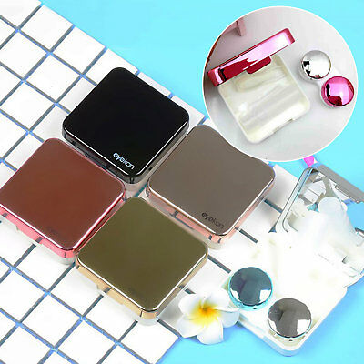 Contact Lens Case Box Container Holder Eye Care Kit Set With Mirror Mini Travel