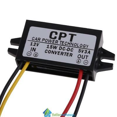 Car DC 12V to 5V 3A 15W Buck Converter Step-Down Power Supply Voltage Regulator