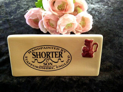 RARE Vintage SHORTER & SON Store China Display Sign - Excellent Condition