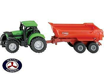 Siku Tractor with Tipping Trailer SI1632 Brand New