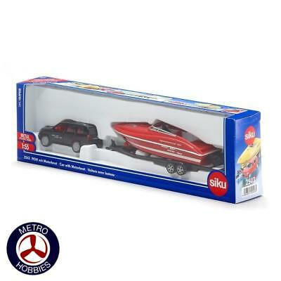 Siku 1/55 Car with Motorboat SI2543 Brand New