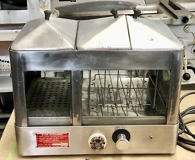 Star Steamro hot dog machine with bun warmer stainless steel-working condition