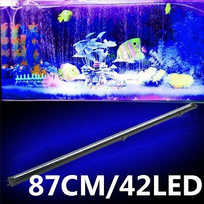 87CM 42 LED Aquarium Fish Tank RGB Submersible Air Bubble Light Remote BG