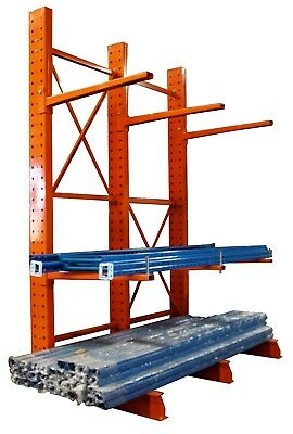 Medium Duty Cantilever Rack w/ Base Plates - Complete Bay 3612-4-S - VIC