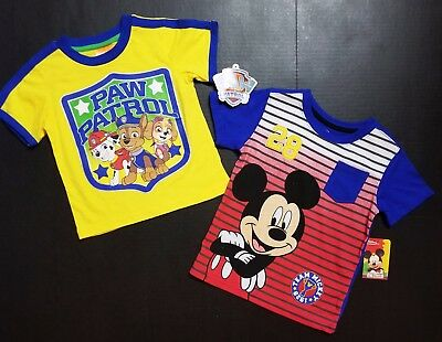 Mickey Mouse Clubhouse & Paw Patrol *2 PACK* TEE T-SHIRTS 3T  NEW FAST SHIPPING