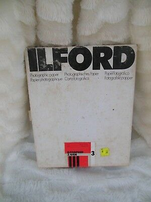 ILFORD B&W 8x10 Ilfospeed Gr 3 Med 180 Pearl 100 Sheets Unopened