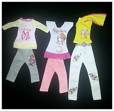 Barbie Doll Clothes Set of 3 Outfits/Clothing/Dress/Party/Casual/Beach/Doll