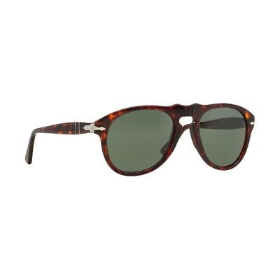 25fde7a46723a New Authentic Persol Sunglasses PO0649 24 31 Havana 54mm Crystal Green Lens  NIB