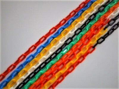 Bird Toy Plastic Chain 6mm x 1 meter - choose your colour - $2.55 per length