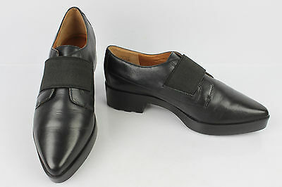 Derby Shoes What for Black Leather T 37 Top Condition