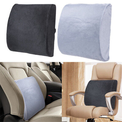 Memory Foam Lumbar Back Support Cushion Pillow Pad Home Office Car Seat Chair GN