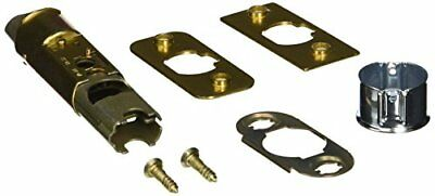 Kwikset 6-Way Adjustable Dead Latch Door Lock Entry Mechanism Polished Brass