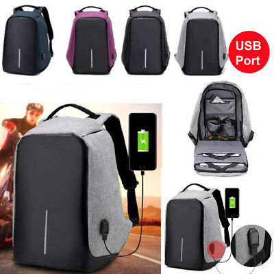 Anti-Theft Laptop Backpack Water Repellent Design USB Port XD Bobby Travel Bag