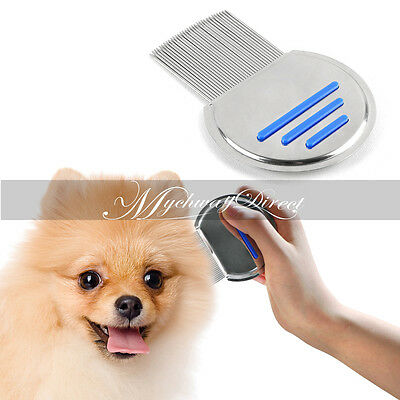 Pets Hair Lice Egg Dust Removal Stainless Steel Comb Nit Free Terminator Brushes