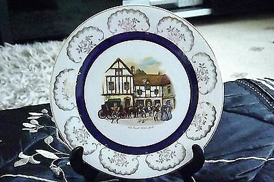 Vintage plate Old coach house York Made in England FREE UK P&P