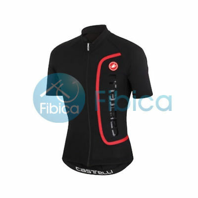 New Castelli Cycling Appariscente Jersey FZ Full Zip Men's Black M-XXXL