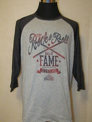 Rock & Roll Hall of Fame XL 3/4 Sleeve Printed Raglan Tee. Exclusive