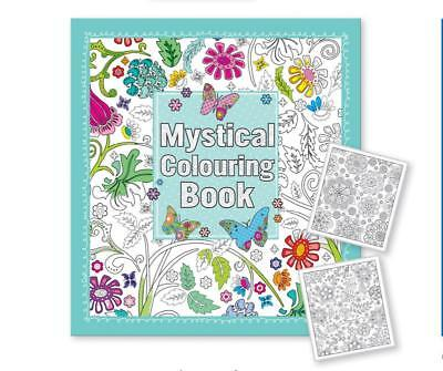 Mystical Adult Colouring Book 64 Pages Anti-Stress Art Therapy 24cm x 22cm