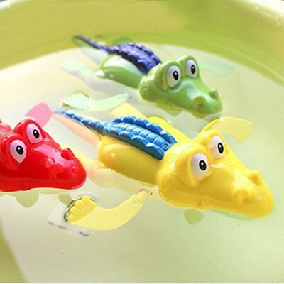 Wind Up Clockwork Cute Crocodile Kid Baby Swimming Favor Bath Time Play Toy EU